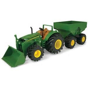 John deere monster treads tractor w wagon loader