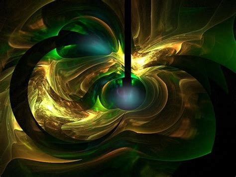 wallpaper green gold green gold fractual explosion 3d and cg abstract