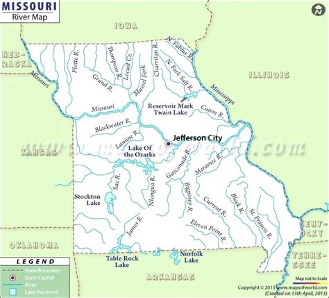 us rivers map test maps missouri on a us map