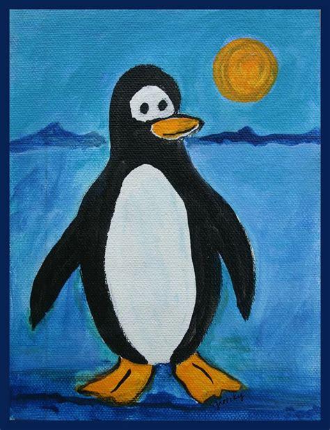 painting penguin penguin painting by paintings by gretzky