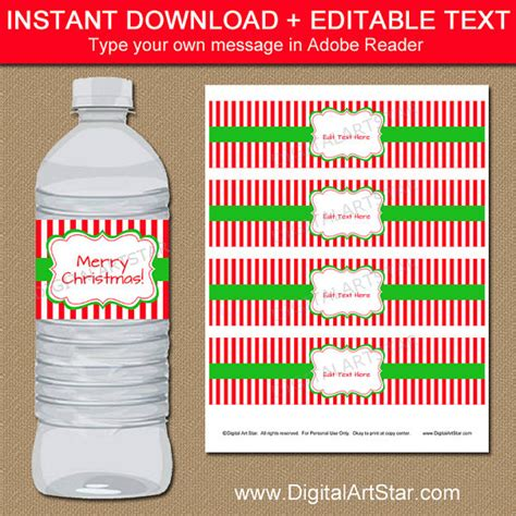 drink bottle label template water bottle labels editable printable