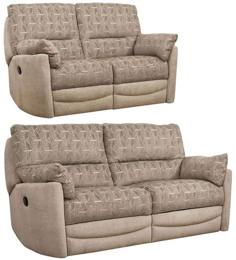 Recliner Sofa Fabric Buy Buoyant Metro 3 2 Seater Fabric Recliner Sofa Suite Cfs Uk