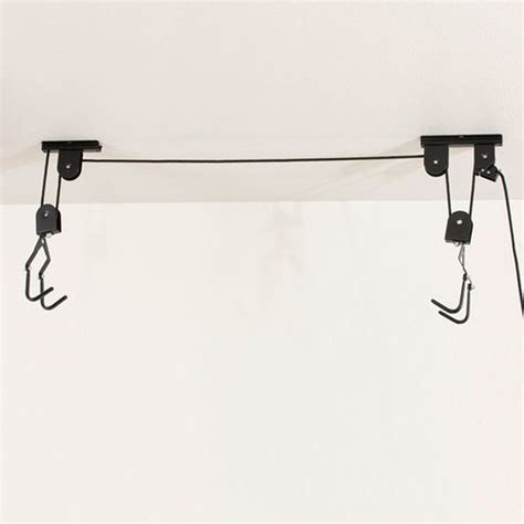 Ceiling Storage Pulley System by Bike Bicycle Lift Ceiling Mounted Hoist Storage Hanger