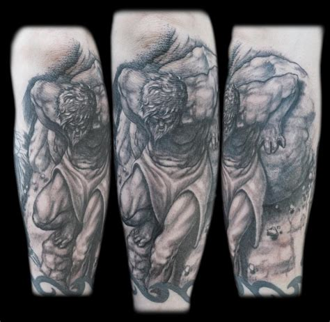 black and grey forearm tattoo designs the map