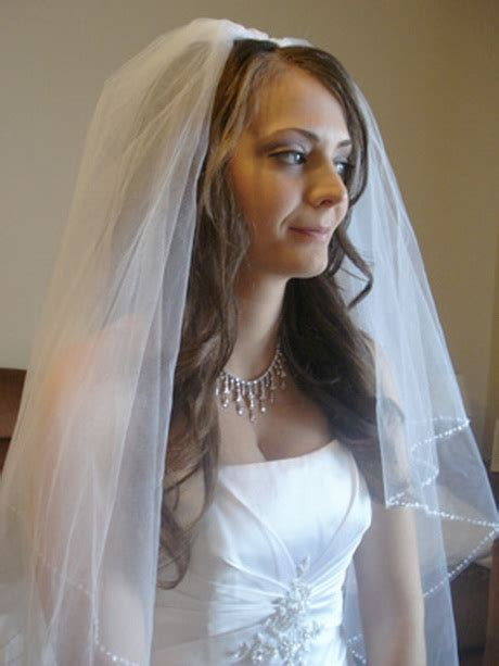 hairstyles down with veil wedding veils with hair down