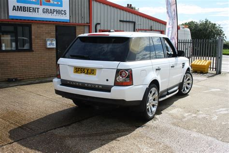 white wrapped range rover active rentals v8 range rover sport white wrap ambient