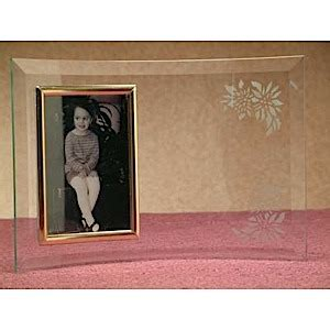 personalized glass picture frame etchtalk glass