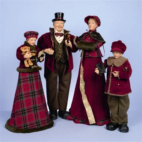 victorian christmas carolers figurines happy holidays