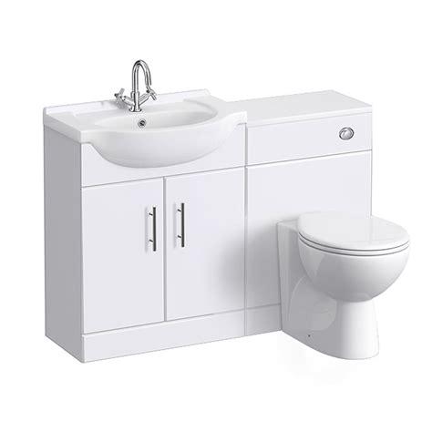 Cloakroom Suites With Vanity Unit by Alaska High Gloss White Vanity Unit Cloakroom Suite W1150