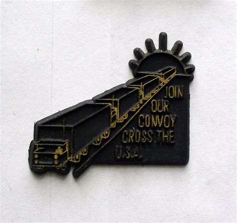 rubber st vintage vintage rubber magnet join our convoy cross the u s a