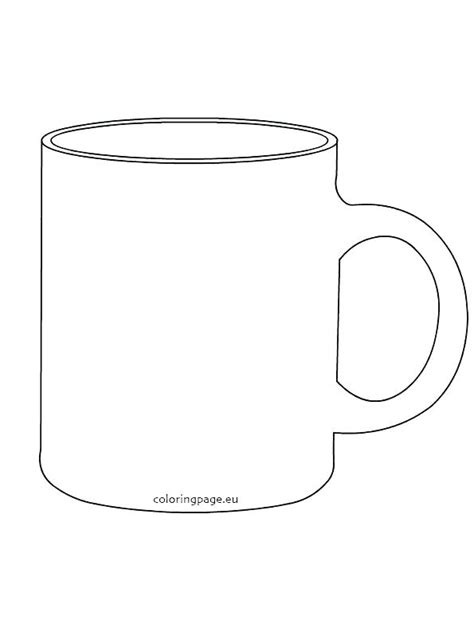 Coffee Cup Coloring Page Printable Mug Template World Trophy Colouring Pages Rgbdesign Co Coffee Mug Template