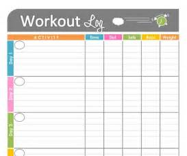work out templates 4 best images of printable workout tracking printable