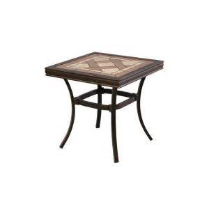 Patio Table Home Depot Hton Bay Pine Valley Tile Top Patio Side Table Apf05017k01 The Home Depot