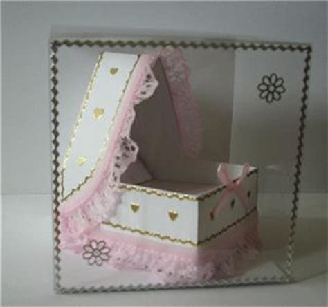 3d baby card templates 3d baby draped crib keepsake gift paper card template ebay