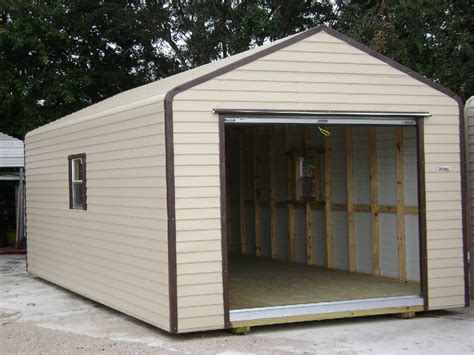 Sheds With Garage Door by Sheds In Stock Backyard Depot