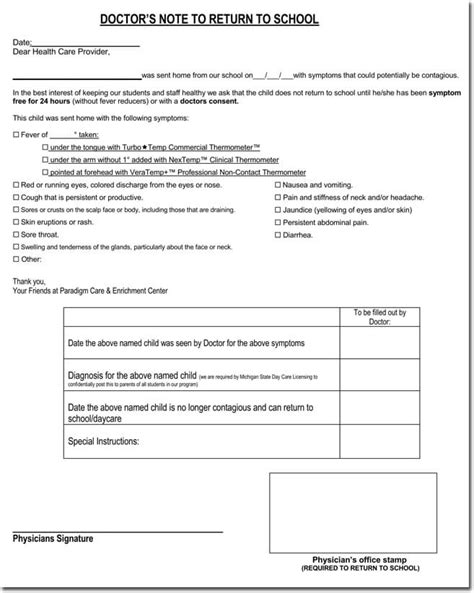 doctor note 21 free doctor note excuse templates