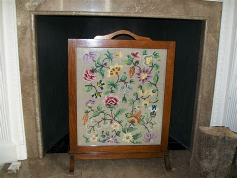 antique vintage woolwork screen beautiful