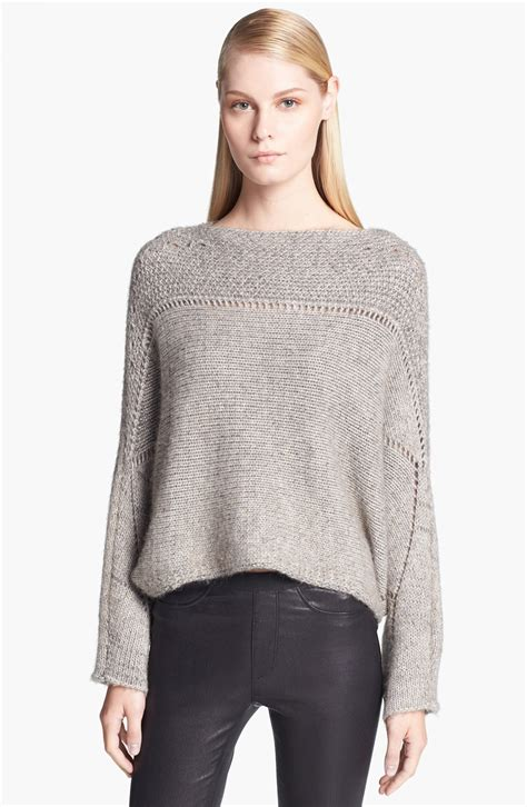 in sweater helmut lang novelty knit poncho sweater for faeaa