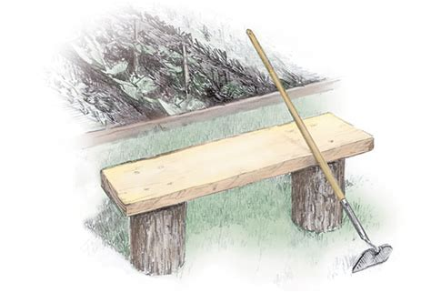 how to make a log bench 3 easy to build outdoor benches diy mother earth news