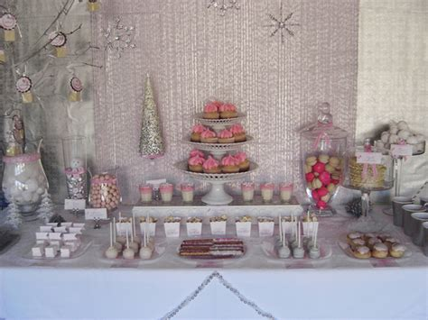 pink winter decorations pink winter baby shower ideas photo 1 of 13
