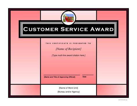 8 Employee Recognition Certificates Free Premium Templates Customer Service Award Template