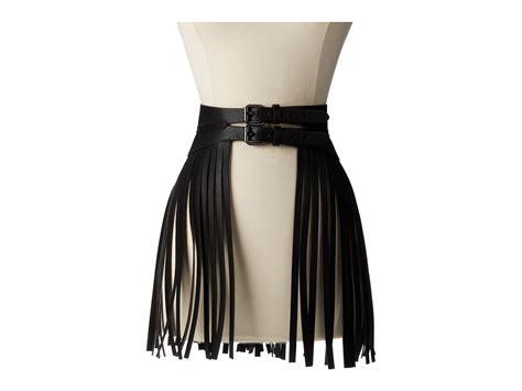 bcbgmaxazria fringe skirt waist belt rachael edwards