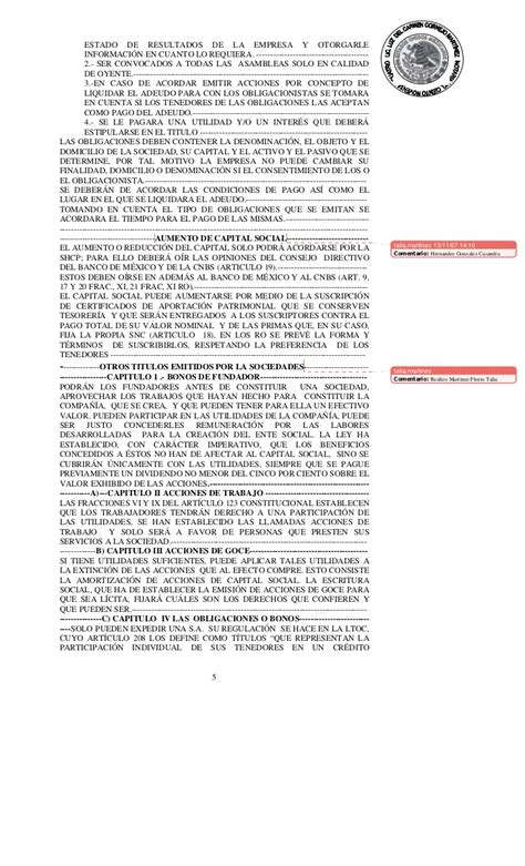 liquidacion de una sociedad anonima de capital variable acta constitutiva de una empresa ejemplo pdf