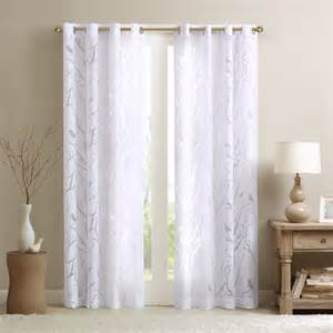 madison park vina sheer bird curtain panel contemporary curtains by overstock com