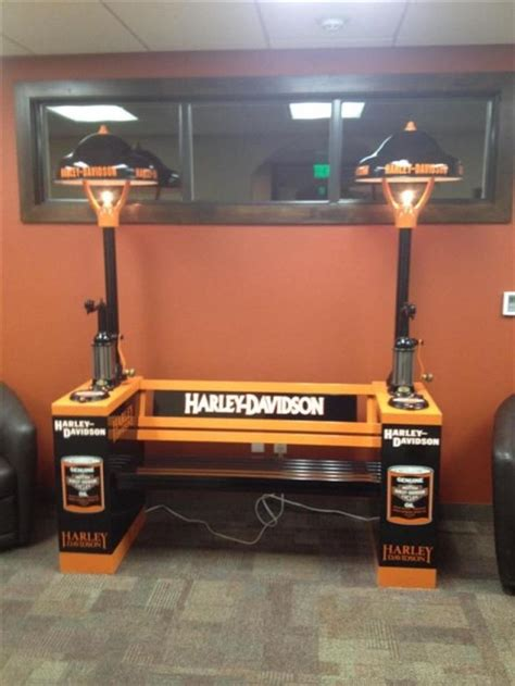 harley davidson bench tom donna cozad unique antique collectible auction offered by helberg and nuss