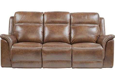 brown reclining sofa barcaccia brown leather power reclining sofa transitional