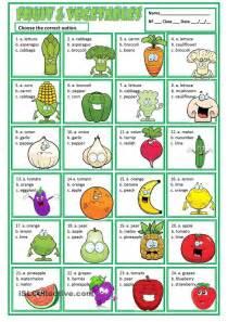 printable vegetable quiz fruit vegetables english activities pinterest