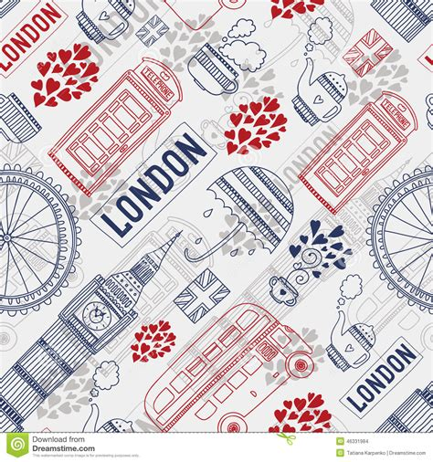 pattern of english building london background stock vector image 46331984