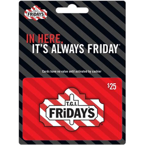 Fridays Gift Card - tgi fridays gift card entertainment dining gifts food shop the exchange