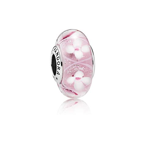 Field of Flowers Pink Murano Glass Charm   PANDORA eSTORE