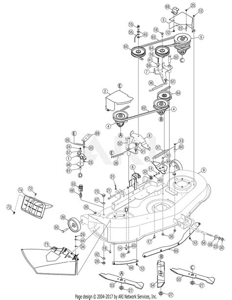 Mtd 13rn771h729 2007 Parts Diagram For Deck Assembly 46 Inch
