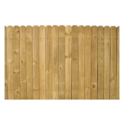 lowes wood shop 4 ft x 8 ft pine stockade wood fence panel at lowes