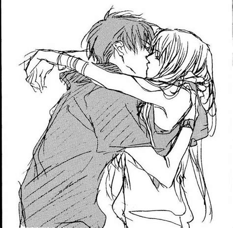 anime couples kissing sketches girl and boy hugging drawing images pictures becuo