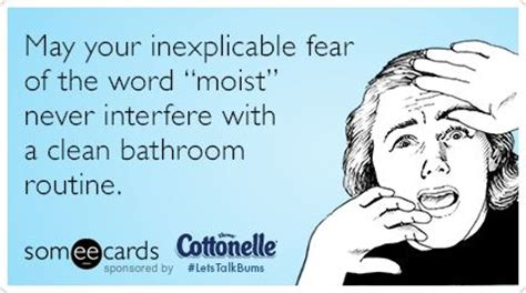 fear of using the bathroom may your inexplicable fear of the word quot moist quot never