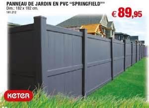hubo promotion panneau de jardin en pvc springfield