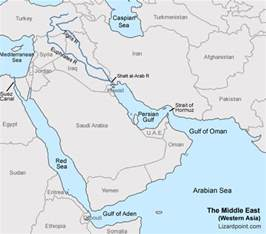 test your geography knowledge middle east bodies of