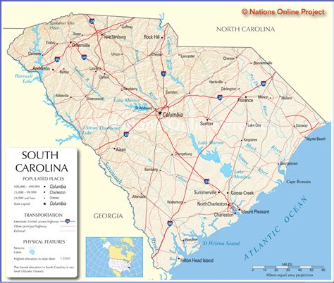 map of of carolina classmates in south carolina