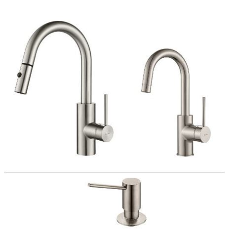 kitchen faucet set kraus mateo kitchen faucet set with matching pull out