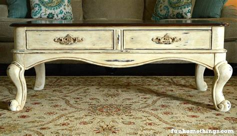 chalk paint coffee table makeover home things