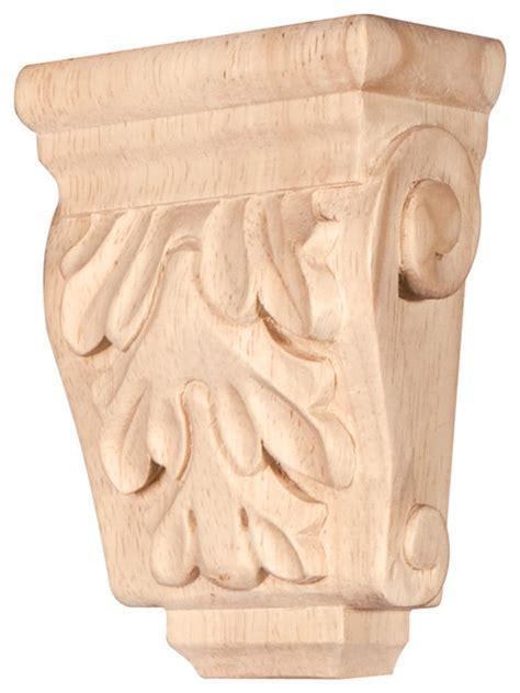 Mini Corbels Mini Wood Corbel With Acanthus Detail 3 X 1 3 4 X 4