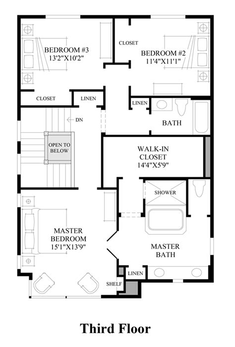 floor plan 3rd preserve at kirkland the home design