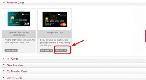 Credit Card Application Form Axis Bank axis bank credit cards personal itsbankingonline