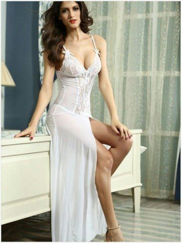 Black Sleep Wear Transparant V Neck With G Strin buy nightwear white lace two bed gown