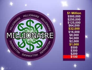 millionaire powerpoint template plays like who wants to