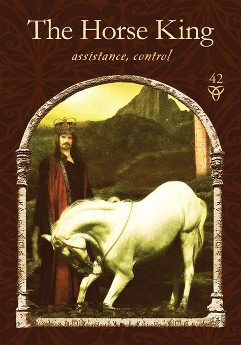 wisdom of the hidden realms oracle cards by colette baron 42 the horse king wisdom of the hidden realms oracle