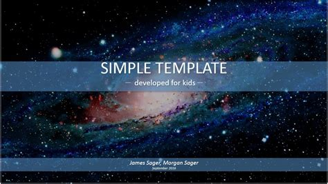 science themes for google slides free space simple kids powerpoint 15626 sagefox